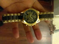 gold and black link chronograph watch Seattle, 98103