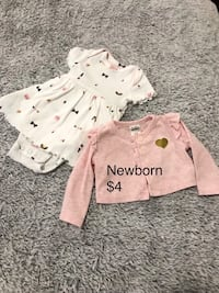 Newborn onesie dress and cardigan - baby girl outfit St Thomas, N5R 6G8