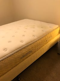 Queen spring and mattress with metal bed frame