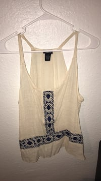 Women's white tank top 2213 mi