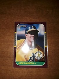 1987 Jose Canseco , gem mint