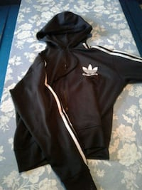 black and white Adidas zip-up hoodie Montréal, H4A 3J7