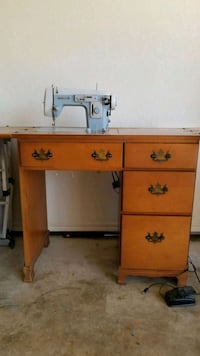Sewing Desk with Machine