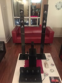 black and red home theater system Toronto, M2N