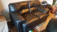 Genuine black leather bought from Sears,clean,No pets household  BURLINGTON