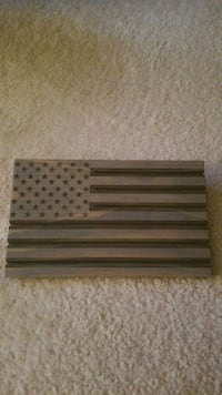 American Flag Coin Holder - Wooden Fairfax, 22031