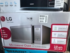gray LG Microwave oven LCS2045WBK