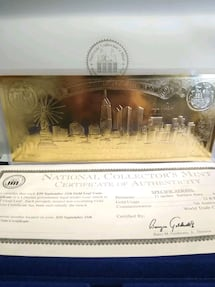 $20 9/11 Gold Leaf Coin-Certificate