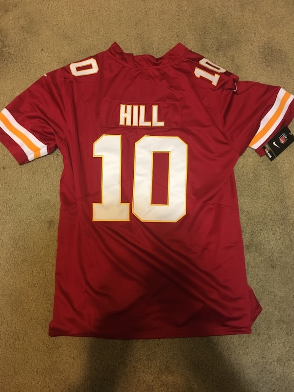 new style 50961 1734a New tyreek hill chiefs adult large jersey.