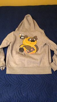 gray and yellow Mickey Mouse print sweater Calgary, T2Y 2E5