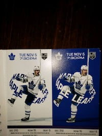Toronto Maple Leafs vs Los Angeles Kings Nov 5th Vaughan, L4J 8S4