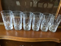 Real crystal drinking glasses  Toronto, M3B 3A1