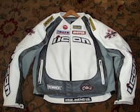 Icon merc hero large men's motorcycle leather jacket with liner great condition no tears Derwood, 20855