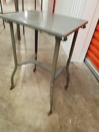 Metal side table Burlingame