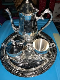 New silver plated coffee set