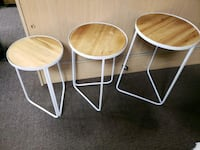 Three hands Trio of tables metal w/wood Las Vegas, 89122