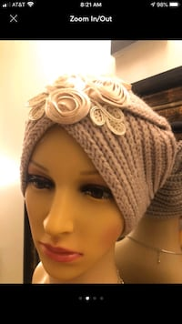 Tan floral hat one size  Alexandria, 22306
