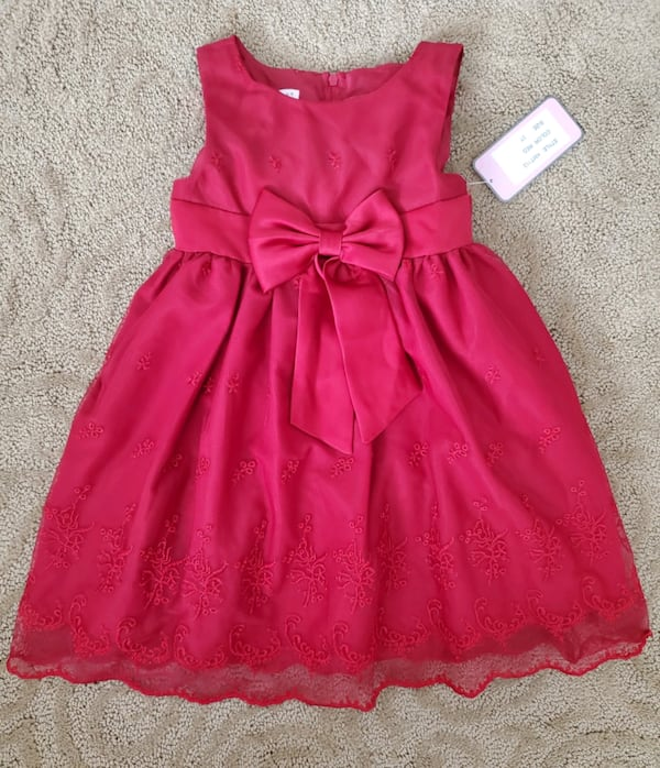 Red toddler girl dress (size 3T) 963502fa-8bd8-4795-956d-fb7ea443a005