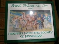 1992 St. Patrick's Day Print, Signed and Numbered Ocean Springs, 39564