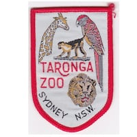 VINTAGE EMBROIDERED SOUVENIR SEW-ON BADGE TARONGA ZOO AUSTRALIA Hanover