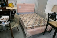 New double pink bed frame on sale  Toronto, M9W 1P6