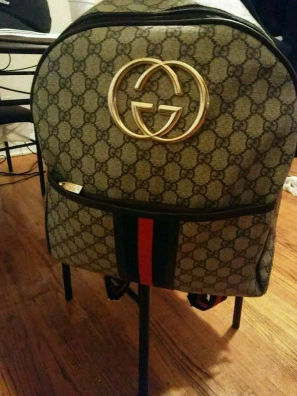 79f1b3d69ff1 Used green and brown Gucci leather backpack for sale in Jackson - letgo