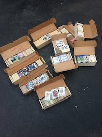 Baseball cards 80's and early 90's. Excellent condition 8 boxes Baseball 2 Football hundreds of cards Dover, 19904