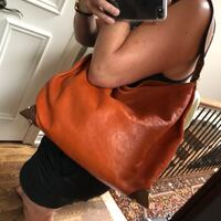 Michael Kors Leather Handbag -  pumpkin/tan with brushed gold Toronto, M4R 1K2