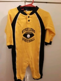 Pittsburgh Steelers one piece Romper size 12 to 18
