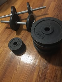 Black and gray barbell and dumbbells New York, 10025
