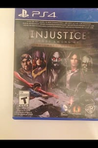Injustice Gods Among Us PS4 game case Halifax, B2Y 1M8
