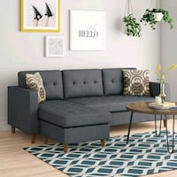 Brand New Grey Linen Sectional Sofa Couch  Silver Spring, 20910