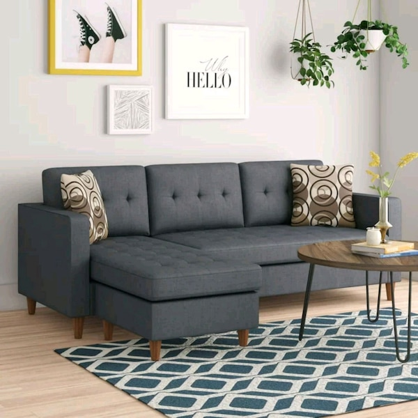 Brand New Grey Linen Sectional Sofa Couch  b0a32caf-8a3b-4e3a-8939-8cd991a3e399