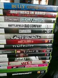 assorted Xbox 360 game cases Winnipeg, R2X 1J5