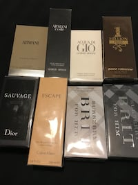 Brand new cologne and perfume bottles