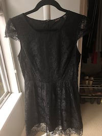 Black lace dress size small Port Coquitlam