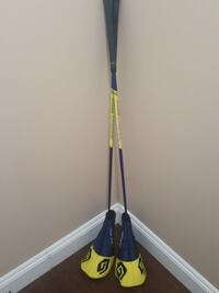 blue and yellow golf club with case Burnaby, V5J 3J8