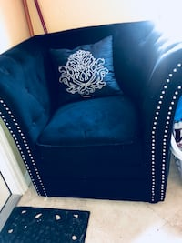 Black studded accent suede chair Fort Lauderdale, 33308