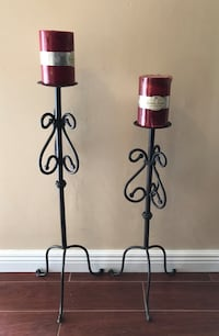 DECORATIVE WROUGHT IRON CANDLE HOLDERS SET Dover, 19904