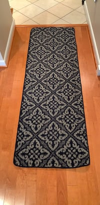 Navy Blue and gray floral area rug Arlington, 22201