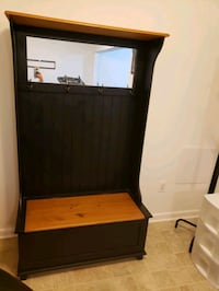 Entry bench with storage  Frederick