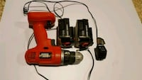 Black & Decker SPS 9.6V drill with two batteries & 536 km