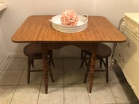 Drop Leaf Table and Two Stools  San Diego, 92116