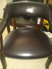 25 each desk chair leather brownish black Spring, 77373