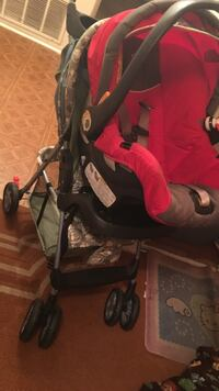 baby's red-and-black travel system Sacramento, 95823