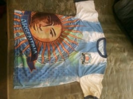 Messi Ronaldo 3d jerseys mostly med and large few