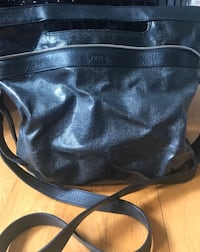 Furla Black leather 2-way handbag Laval