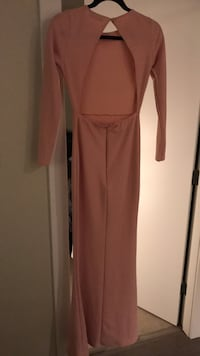 Women's Pink Missguided Long Sleeve Gown Vancouver