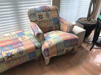 3 Piece Chair and Lounge Set