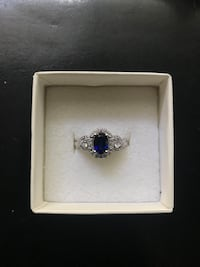 Sapphire and Sterling Silver Ring Size 7